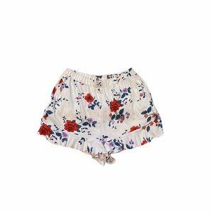American Eagle Floral Rose Elastic Waist Shorts Small